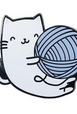 Kitty Yarn Ball Pin