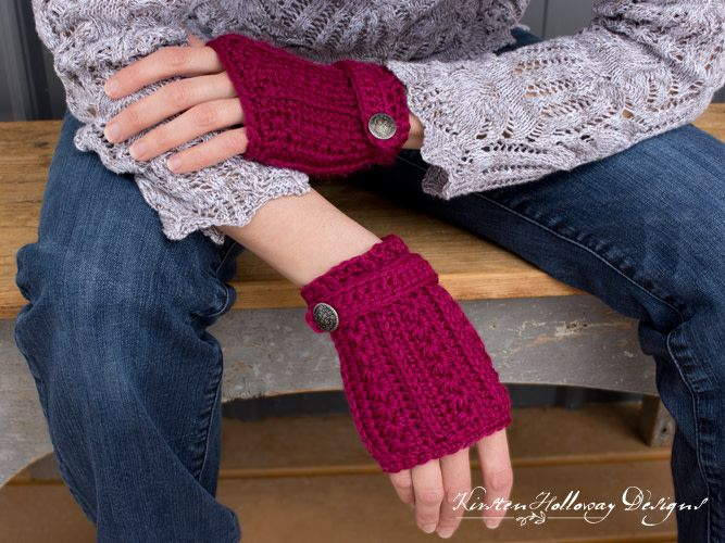 Heartstrings Fingerless Mitts