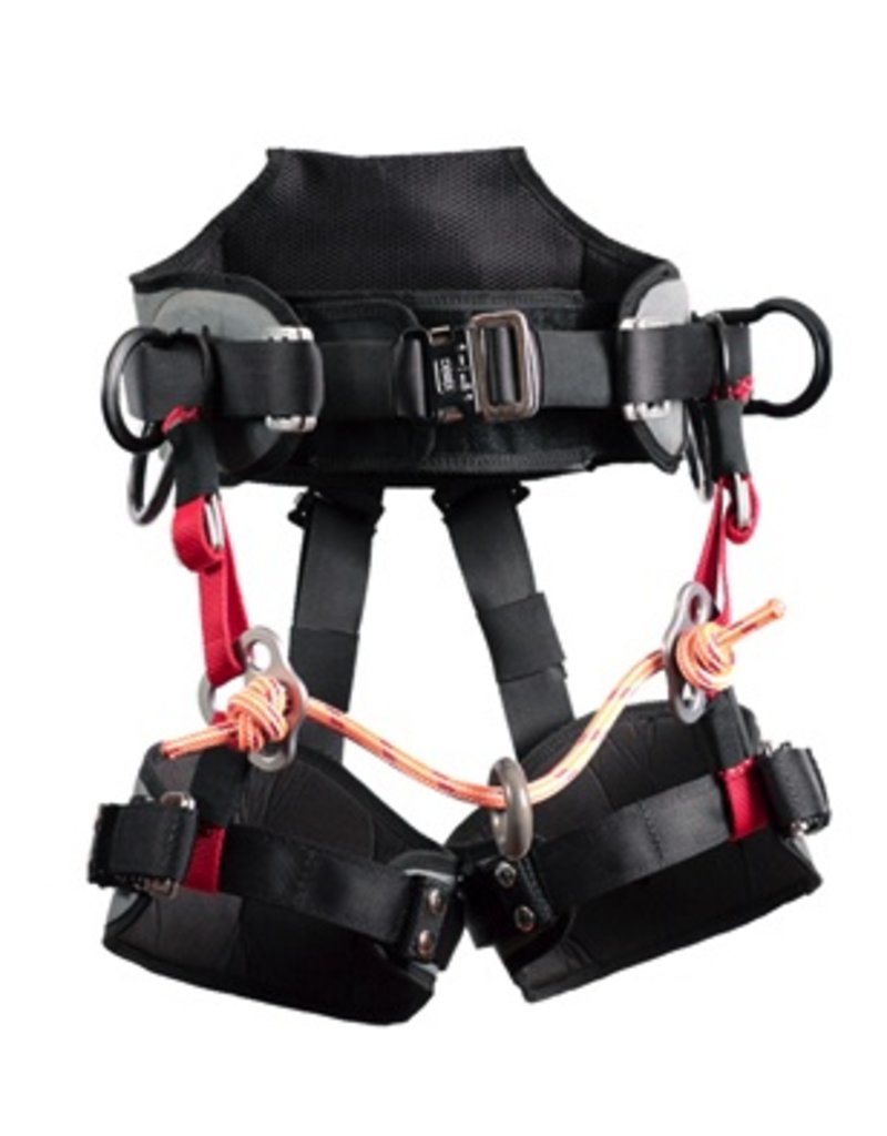Buckingham Patent pending ergonomically designed saddle conforming to EN 358 2000 Standards for Work Positioning as well as EN 813 2008 Standards for Sit harnesses.  Features include:<br />• Fully modular design for customized fit and comfort<br />• Weighs only 6 lbs. 3 oz.<br />•