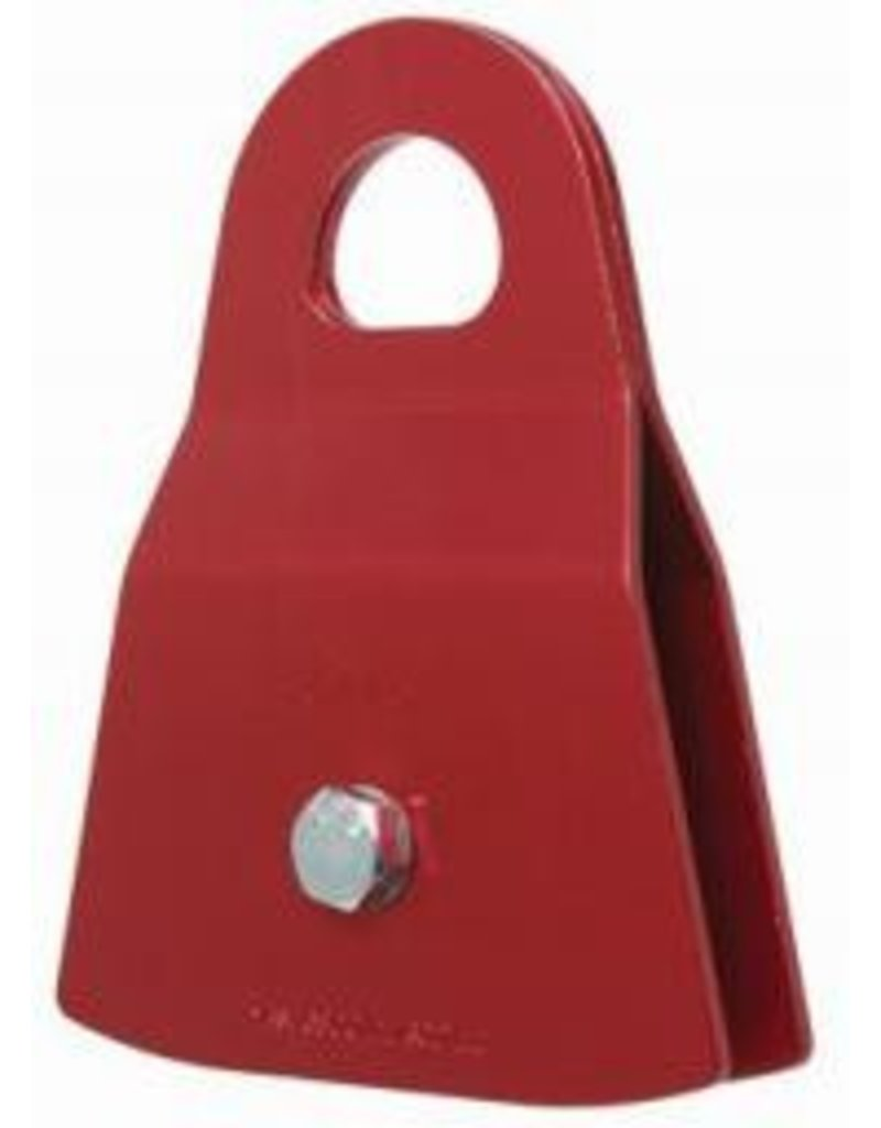 "CMI Red Anodized Aluminum sideplates, 2"" Aluminum sheave, Bushing, and Steel axle. 6800#"