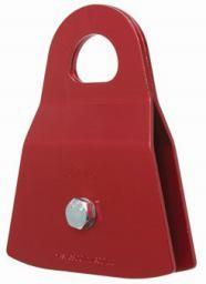 "CMI Red Anodized Aluminum sideplates, 2"" Aluminum sheave, Bushing, and Steel axle. 6800#"