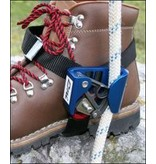 CMI Rope climbing is made easier by the CMI Foot Ascender. The addition of this boot-mounted device maintains tension on the rope, allowing for easier advancement of the main ascender, and promotes better use of body mechanics by keeping your body in an uprig