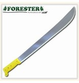 Forester Precision balanced tempered steel blade machetes.  Professional quality handle.  These all have a yellow plastic handle.