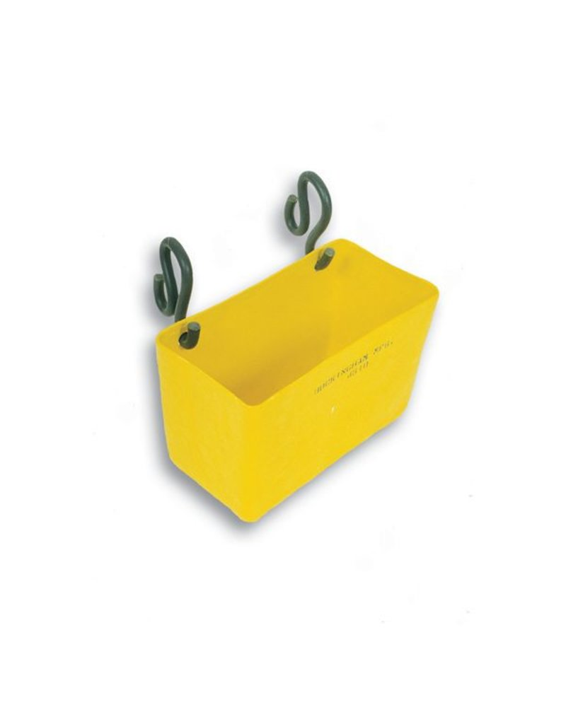 "Buckingham A fiberglass storage tray that may be hung on the inside or outside of an aerial basket. Can be used to conveniently store cabling and other miscellaneous equipment. Mounts using one pair of 5334 PVC hooks (included). 18"" x 9"" x 11"""