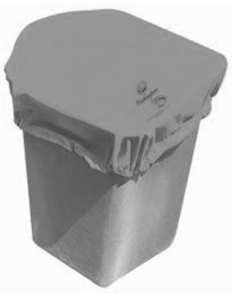 """Buckingham Vinyl coated nylon cover wraps snugly around standard one-man buckets with a heavy duty sewn in bungee cord and snap to secure itself to the bucket. Includes one grommet hole. Fits up to a 50"""" square bucket."""