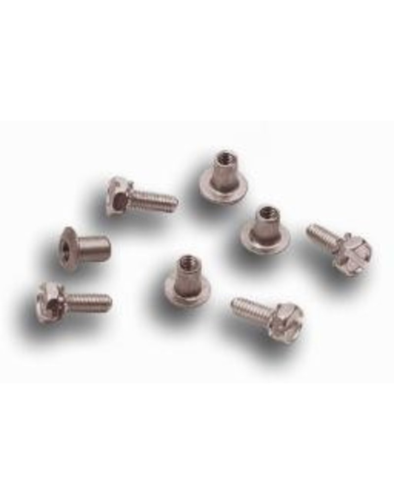 Buckingham Package of four replacement barrel fasteners and screws for climber sleeves.  Designed for use with climbers that have smooth sleeve attachment holes.