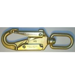"U.S. Rigging SNAP, Forged Alloy Steel Locking Safety Snap 7+1/4"" 34kn MBS with Swivel Eye"