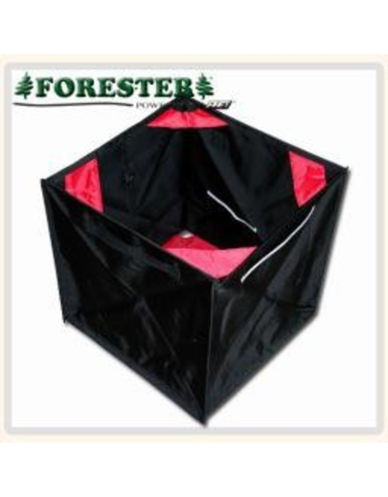 "Forester Folding throw lne cube. The best way to gather and store throw line. Opens to a large 17"" cube and can be folded down into a small triange. Built to last."