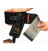 """Buckingham A velcro pad that features an angled style and a cinch loop and metal insert. Measures 4"""" width."""