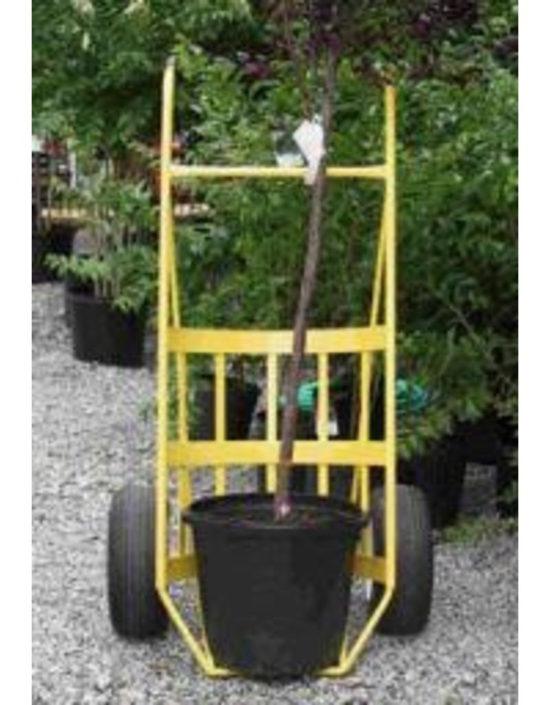 "Border Concepts Log Cart with Tray Yellow 1200# Capacity 35"" Wide x 62"" High"