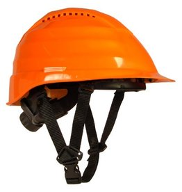 Rockman Rockman Forestry Arborist Vented Helmet in Orange with 4 point chin strap