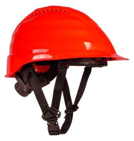 Rockman Rockman Forestry Arborist Vented Helmet in Red with 4 point chin strap