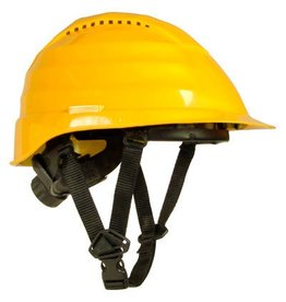 Rockman Rockman forestry vented helmet yellow with 4 point chin srap