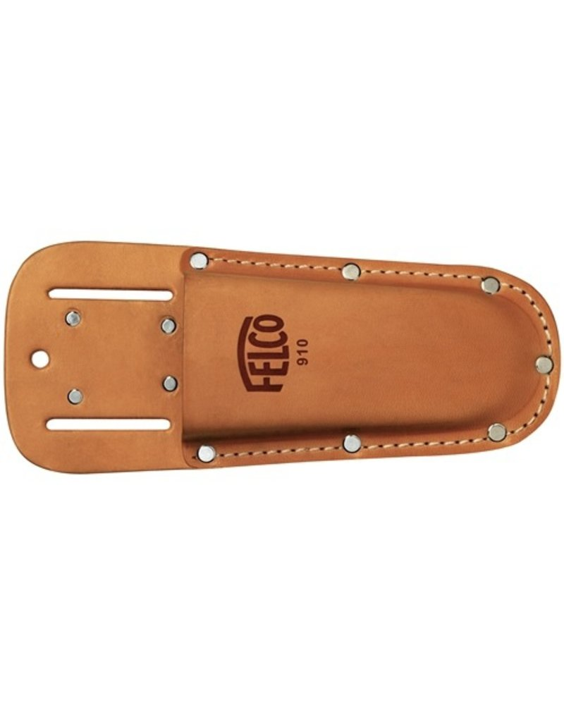 FELCO Genuine leather holster for hand pruning shears, with belt loop and clip.