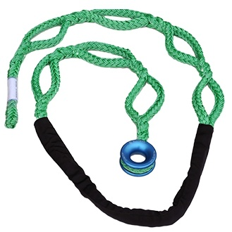 """All Gear Inc. Husky-12  - """"Soft Rig Sling"""" 3/4"""" X 10' with Low Friction Ring & Chafe Cover"""