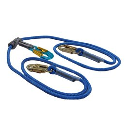 "All Gear Inc. All Gear's 2 in 1 Safety Lanyard 1/2"" X 8' with Adjustable Prusik and 3 Locking Snaps"