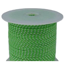 "All Gear Inc. ""Bull's Eye""™ Slick Arborist Throw Line, 2.5mm x 180' Neon Green Polyethylene, and White Dyneema®"