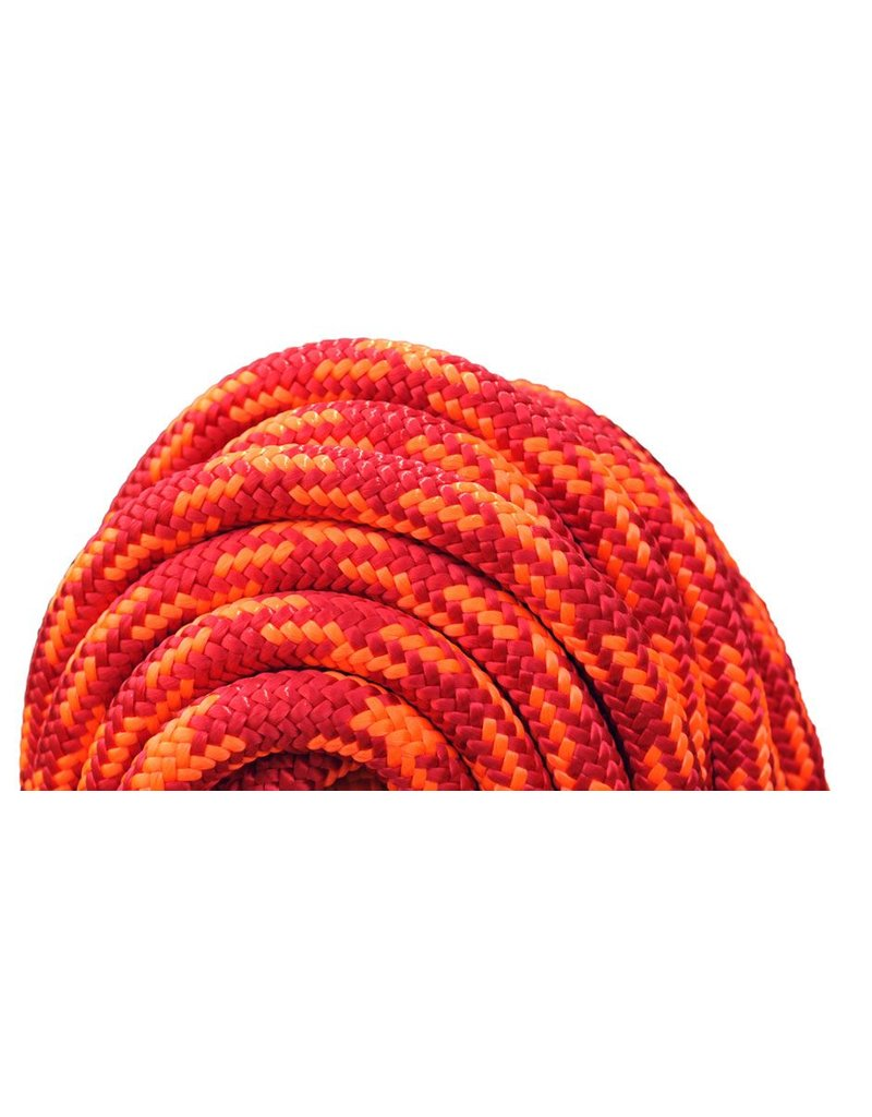 "All Gear Inc. Cherry Bomb 7/16"" (11.5mm) x 120' 24 strand polyester double braid, Red and Neon Orange 6,300lbs"