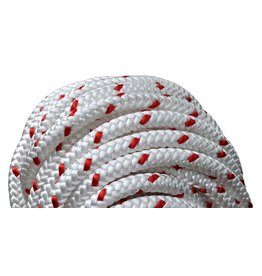 """All Gear Inc. Forestry Pro 1/2""""x 120' 12-Strand Polyester White with Red Tracer"""