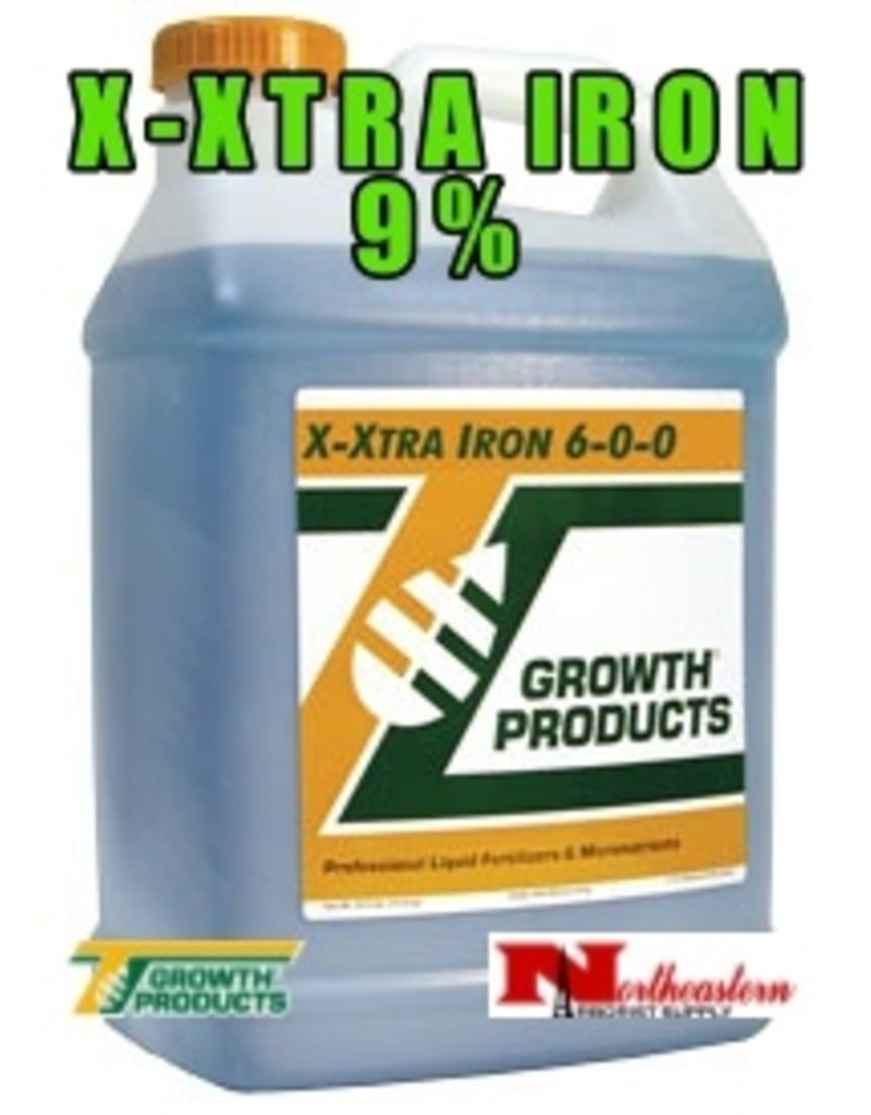 Growth Products X-Xtra Iron Goes the Extra Mile for Fast Green-Up<br /> X-Xtra Iron 6-0-0 contains more iron than the closest competitive product on the market. X-Xtra Iron provides 100% soluble, chelated iron in an immediately available form for both foliar and root applicati