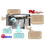 "Enginaire Glass Filled Composite Precleaner, Model ""4.5-250/600"", 4.5"" ID Inlet"