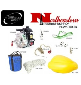 PORTABLE WINCH CO. Forestry Kit with PCW500 Portable Capstan Winch