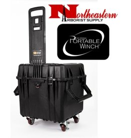 PORTABLE WINCH CO. Case, PADDED WATERPROOF AND AIRTIGHT with REMOVABLE CASTERS