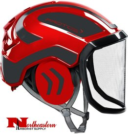 PROTOS Integral Arborist Helmet, Red and Black