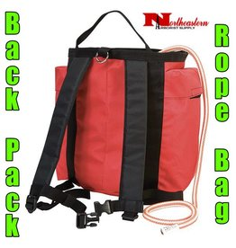 Weaver Back Pack Rope Bag in Red