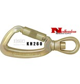 "ISC Steel Swivel Eye Carabiner Snap Hook with ""Supersafe"" Gate, 25kN MBS"