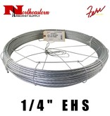 "Fehr Bros. Cable EHS Grade 1/4"" X 250' with dispenser cage"
