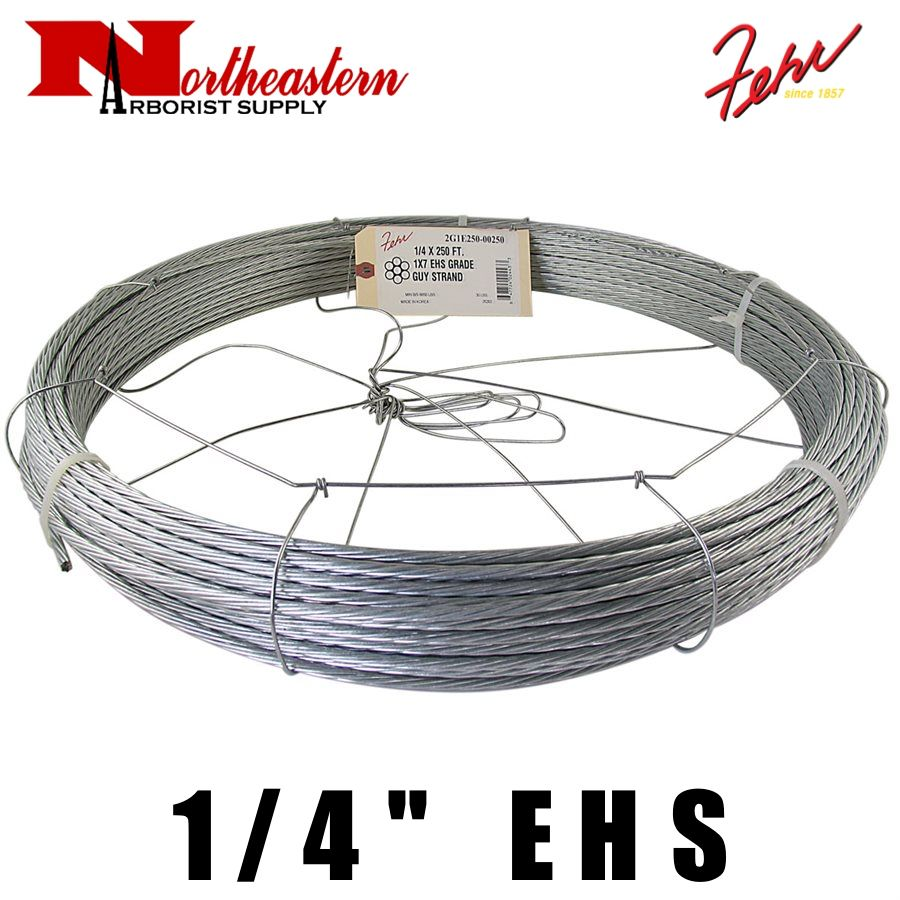 """Fehr Bros. Cable EHS Grade 1/4"""" X 250' with dispenser cage"""