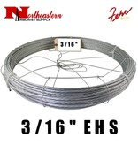 "Fehr Bros. Cable EHS Grade 3/16"" X 250' with dispenser cage"