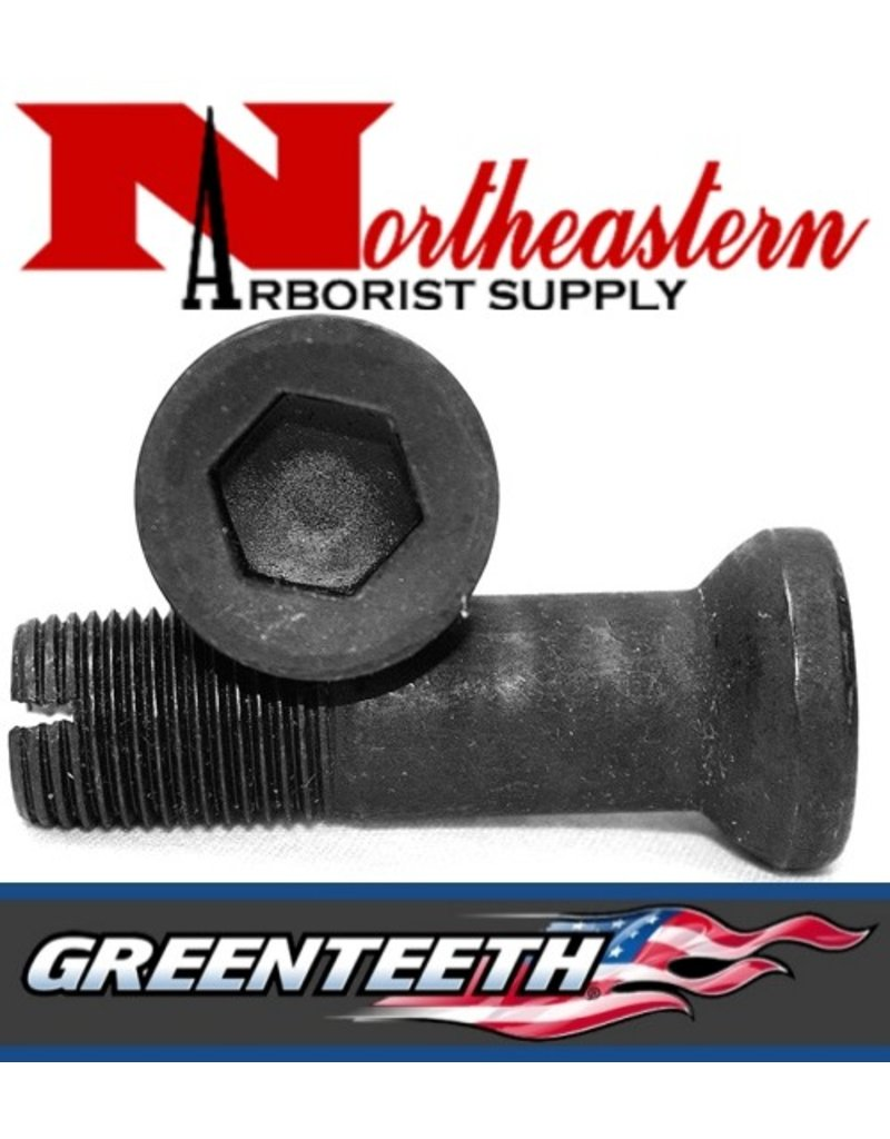 GreenTeeth THE LO-PRO  BOLT HAS A 1/2&quot; ALLEN DRIVE, A SMOOTH SHANK TO MINIMIZE WHEEL WEAR, AND A SLOT AT THE END FOR EASY BOLT REMOVAL IN CASE OF A BROKEN BOLT.<br /><br />THE LO-PRO  BOLT  IS DESIGNED ONLY FOR THE NEW 500, 700, AND 900 LOPRO POCKETS DUE TO ITS ANGLED SHOULDE