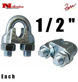 Fehr Bros. Zinc Plated Malleable Wire Rope Clip 1/2""
