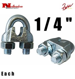 Fehr Bros. Zinc Plated Malleable Wire Rope Clip 1/4""