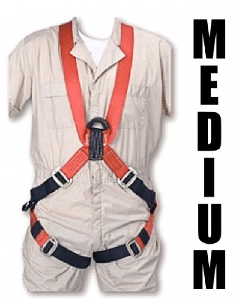 "Bashlin Full Body Harness, 683XC Series: ""X"" Style, Medium"