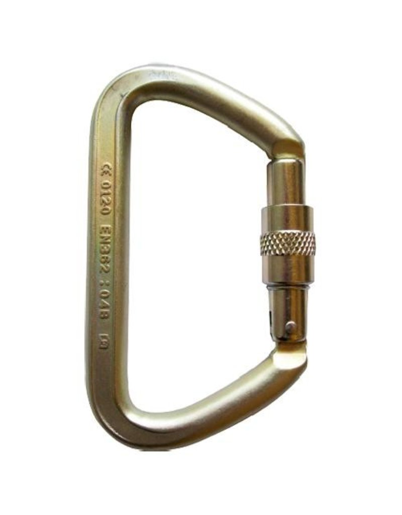 ISC Small Iron Wizard, Steel Screw Gate Locking Carabiner 70 kN