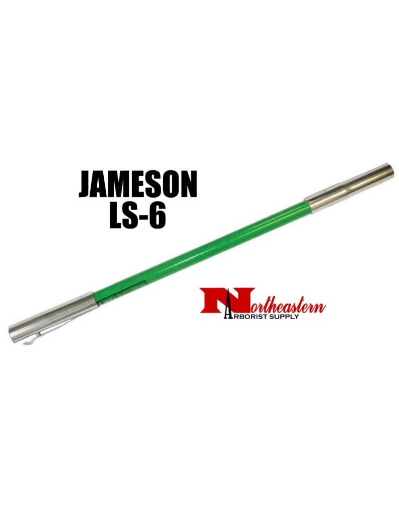 Jameson Hollow Extension Pole with male and female ferrules, 6' Green