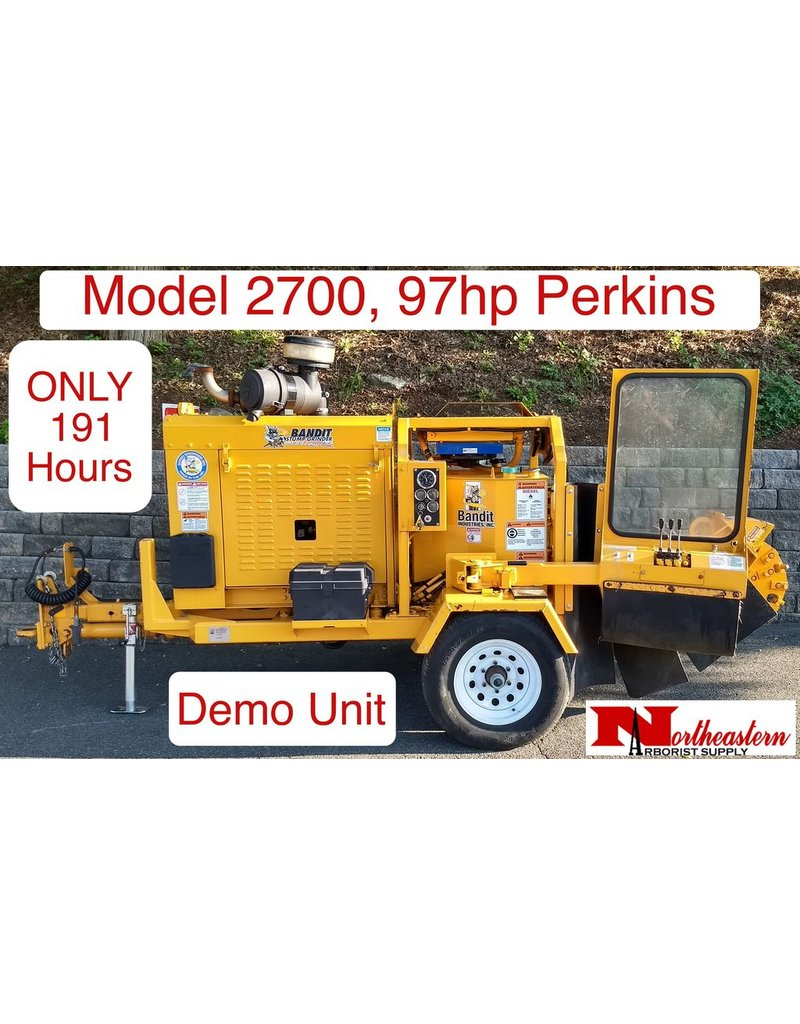 Bandit® Model 2700 Stump Grinder, Perkins 97hp Diesel Engine