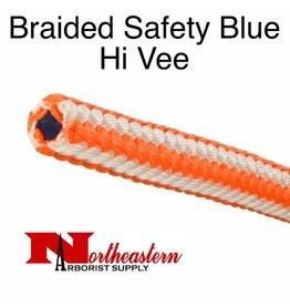 "Teufelberger BRAIDED BLUE HI-V 1/2"" x 120' Average Tensile 7,000# (New)"
