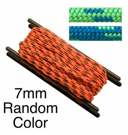 Teufelberger Accessory Cord, Polyester, 7mm, Random Color, per Foot 2,100# MBS