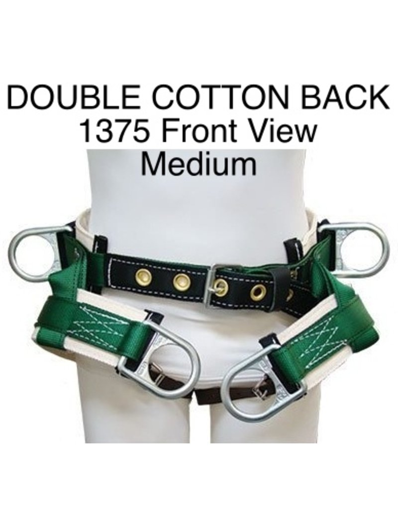 Buckingham Saddle, DOUBLE COTTON BACK #1375 Medium