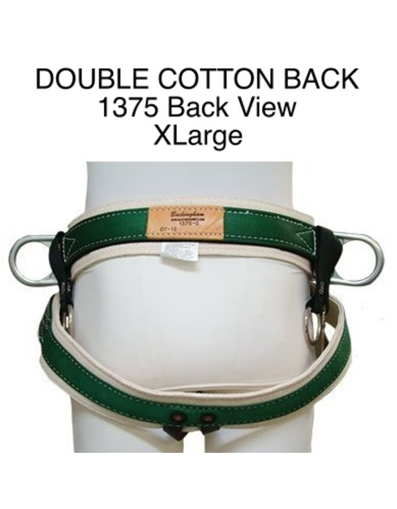 Buckingham Saddle, DOUBLE COTTON BACK #1375 Extra Large