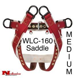 """Weaver Model WLC-160 Saddle with 2"""" Nylon Leg Straps, Medium"""