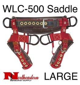 Weaver WLC-500 Saddle with Padded Nylon Leg Straps, Large