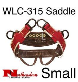 "Weaver WLC-315 Saddle with 1"" Heavy-Duty Coated Webbing Leg Straps, Small"