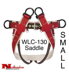Weaver WLC-130 Saddle with Heavy-Duty Coated Webbing Leg Straps, Small