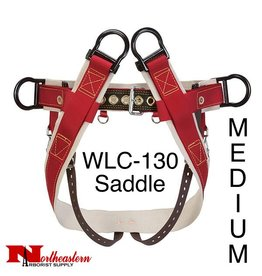 Weaver WLC-130 Saddle with Heavy-Duty Coated Webbing Leg Straps, Medium