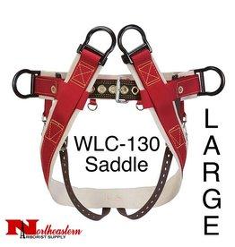 Weaver WLC-130 Saddle with Heavy-Duty Coated Webbing Leg Straps, Large